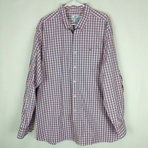 Southern Tide Mens Blue/Red Plaid L/S Button Up Sh